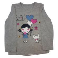 T-shirt da menina dos miúdos da mola na roupa das crianças