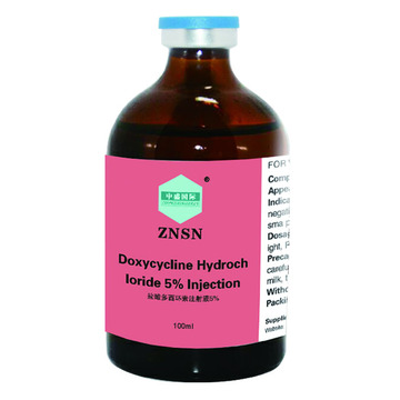 Injection de chlorhydrate de doxycycline de haute qualité de ZNSN 5%
