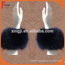 natural color real fox fur cuff