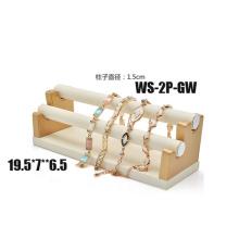 Blanco PU de cuero de oro 2 Tiers Soporte titular de la pulsera (TY-2P-GW)