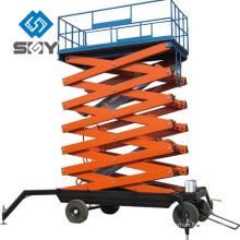 Table élévatrice hydraulique mobile de ciseaux, plate-forme de travail