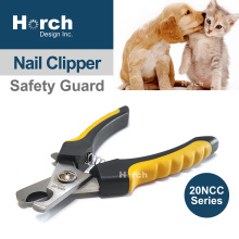 Stainless Steel Nail Clipper for Dog Cat Antibacterial Holder