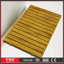 Anti-derrapante Design DIY WPC madeira banho tapetes