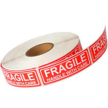 Permanent Adhesive Fragile Warning Packing Labels Roll