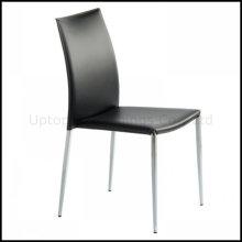 Хромовая сталь Штабелируя кожаный Обедая стул (СП-LC210)