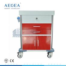 AG-MT026 hospital paciente carretilla carro médico fabricantes cuatro ruedas silenciosas con frenos