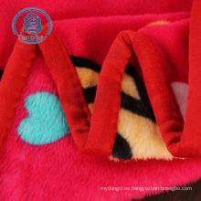 Tela de franela impresa manta de lana 100% poliéster