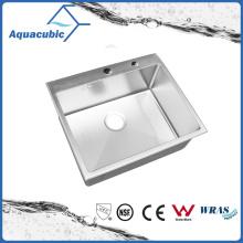 Évier de cuisine en acier inoxydable en acier inoxydable à simple bol (ACS6050R)