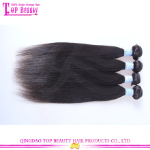 Hochwertige reine brasilianische gerade Haarwebart Bundles welliges Haar
