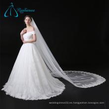 Catedral de tul con lentejuelas de velo nupcial para el vestido de novia
