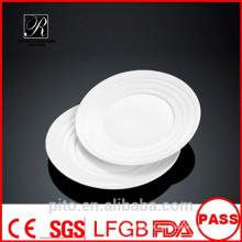 P & T porcelana fábrica de porcelana rodada pratos, placas de mesa, pratos de sobremesa