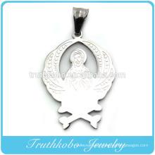 Shiny Polishing High Quality Stylish Mens Catholic Jewelry Gold Pendants Saints