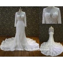 Custom Made White See Through Women Wedding Dress Empire Vintage Floor Length Princess Party Dress
