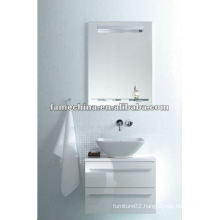 new white glossy bathroom cabinet/vanity white wall cabinet