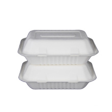 Professional manufacturer disposable sugar cane bagasse food takeaway box container with lowest price