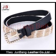 Hot Sell Ladie′s PU Braid Belt