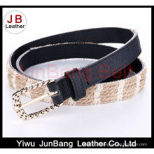 Hot Sell Ladie's PU Braid Belt