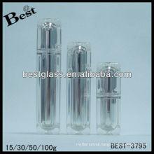 15/30/50/100ml,baby lotion bottle,square shape acrylic cosmetic bottle