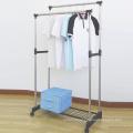 Poteau Double en acier inoxydable Clothes Hanger avec maille