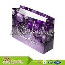 Fsc Padrão Bsci Fábrica de Luxo Na Moda Decorativa Embalagem Do Presente de Natal Artesanal Sacos De Papel Projetos Em Guangzhou