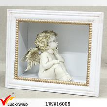 Vente en gros Vintage White Wall Art Shadow Box Frame