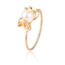 15429 xuping hot new production super popular pearl 18k gold finger ring accessories for women jewelry