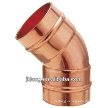 J9306 Acoplamiento de cobre Codo de cobre de 45 grados