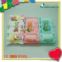 Nettoyage publicitaire pour bébés Tissu humide
