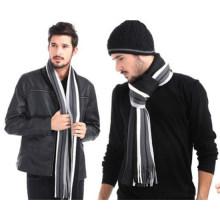 Мужчины зима Классическая полосатый Мужской шерстяной шарф (82020)