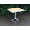 Hot sale teakwood and Aluminum frame dining table set