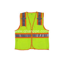 high visibility reflective safety vest strips