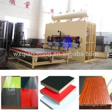 Wuxi Qiangtong automatic short cycle melamine MDF laminate hot press line