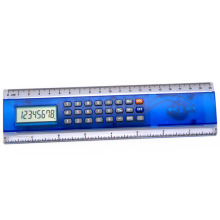 8 Digits Multifunctional 20cm Plastic Ruler Calculator