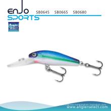 Angler Select Stick Bait Fishing Lure Fishing Tackle with Vmc Treble Hooks (SB0645)