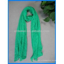 Твердый цвет хлопка довольно зеленый шарф продажа