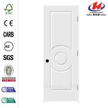 28 pulg. X 80 pulg. C3140 Primario de 3 paneles de núcleo sólido Premium Composite Single Prehung Puerta interior