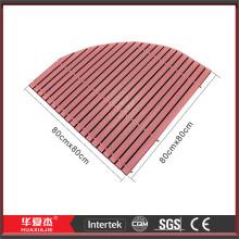 Sector Anti-slip WPC Composite Bath Floor Mat For Bathroom
