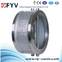 Válvula de retención de chapa doble de acero inoxidable