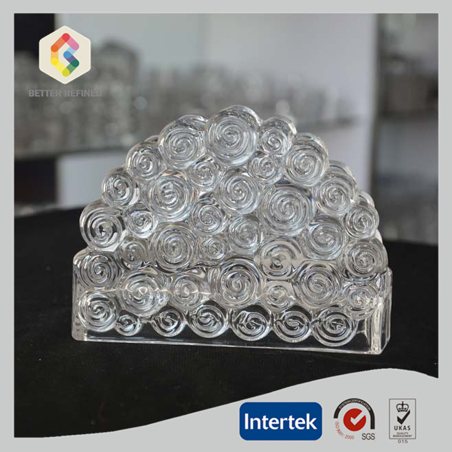 Clouding Pattern Crystal Glass Napkin Holder