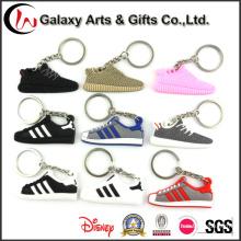 Llavero al por mayor del silicio de la forma de los zapatos del diseño de los nuevos productos al por mayor
