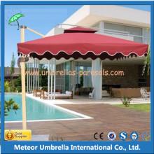 Parasol universel en aluminium allongé pour jardin extérieur / plage