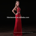 Hot sell red color 2pcs set mermaid evening dress heavy beaded sexy girl red color bridesmaid dress wholesale