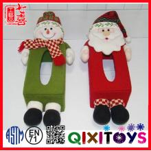Caja de pañuelos divertida decorativa de la felpa de la Navidad para la decoración de la tabla
