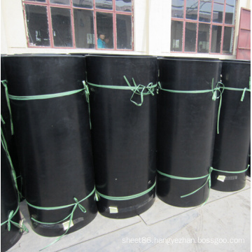 Black Smooth NBR Rubber Sheet with Cloth Insertion