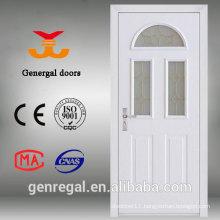 Luxury heat isolated wood steel foam filled doors
