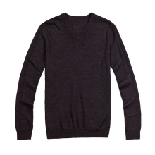 Custom V-Neck Pure Colour Fit Man Sweater
