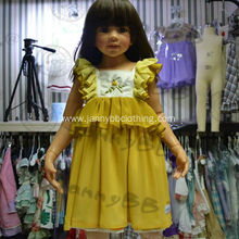 Flower Embroidery Yellow Dress