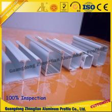 Perfil de aluminio para el carril de aluminio del carril del guardarropa