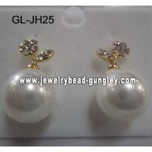 Aretes de perla de la cáscara de moda 2012