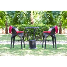 Exclusivo diseño de polietileno Rattan barra establece para muebles de jardín al aire libre mimbre